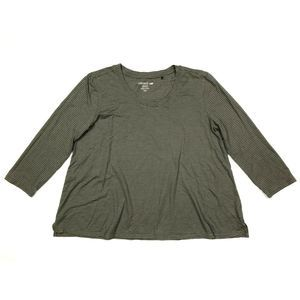 Toad & co tissue 3/4 sleeve tee taupe scoop neck
